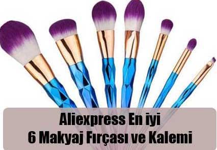 Aliexpress En iyi 6 Makyaj Fırçası ve Kalemi